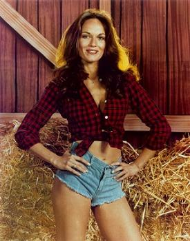 Daisy Duke (Catherine Bach) wearing denim hot pants