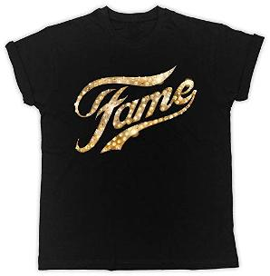 Fame Glittery Gold Lights Logo T-shirt for Adults
