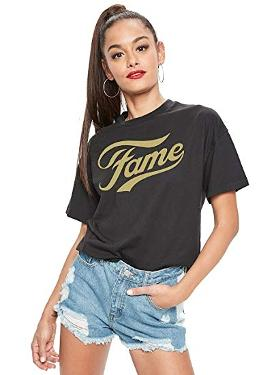 Gold Fame 80s Logo T-shirt for Women