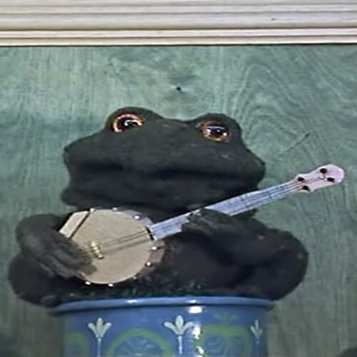 Gabriel the toad in Bagpuss