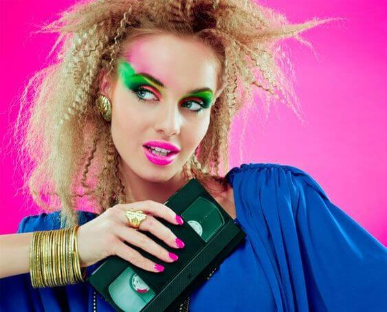 SEP 13 - 80s MAKE-UP IS BACK in a Big Way. Time to dig out that neon eye shadow once more!