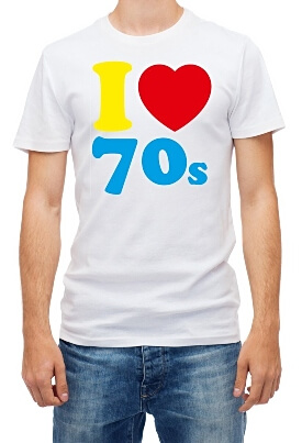 I Love the 70s T-shirt for Men