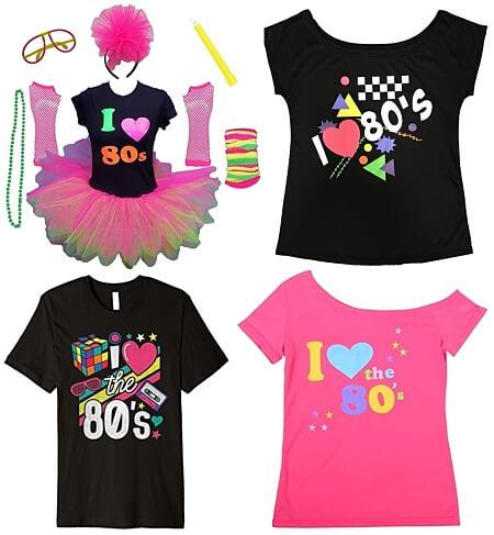 FEB 16 2019 - I LOVE THE 80s T-SHIRTS - check out the latest range of tee designs for 2019.