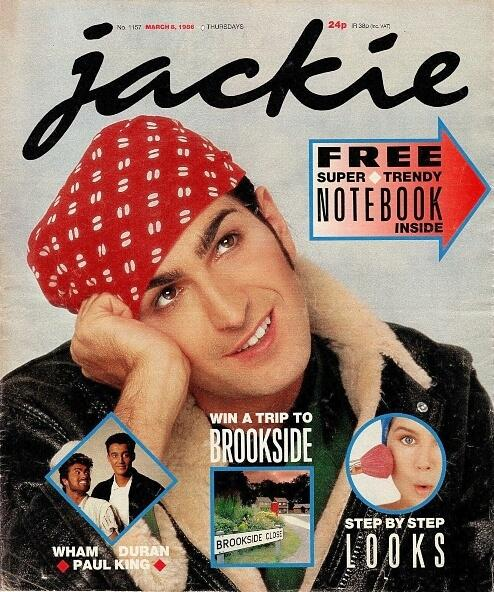 Jackie magazine March 8 1986 ft. Paul King