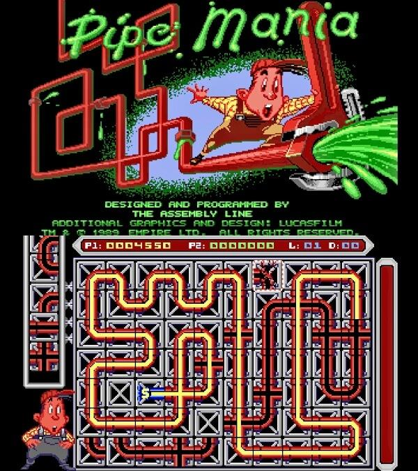 DEC 23 - PIPE MANIA - Free online game for all devices. Plus, a review of the original 1989 game.