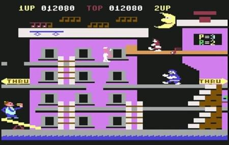 Popeye Level 2 on C64