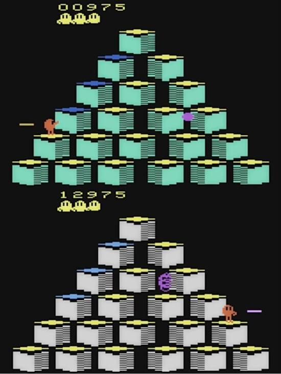 Q*Bert Atari 2600 screenshots