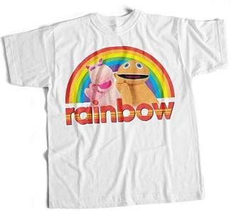 Rainbow Zippy and George T-shirt