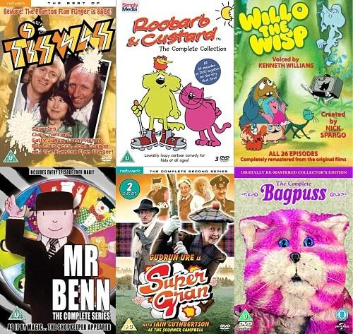 Classic Retro Kids TV DVDs