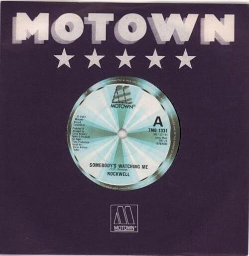 Somebody's Watching Me UK 7 inch vinyl (Motown) - Rockwell (1984)