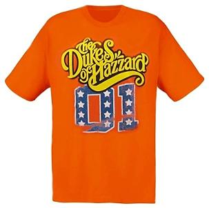 Official The Dukes of Hazzard T-shirt, orange