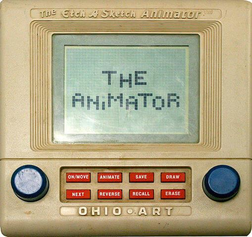 The Etch A Sketch Animator - public domain image