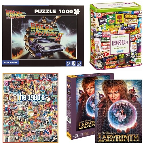 MAY 31 - 80s JIGSAW PUZZLES. Kill time and bring back fond memories with these 80s themed jigsaws.