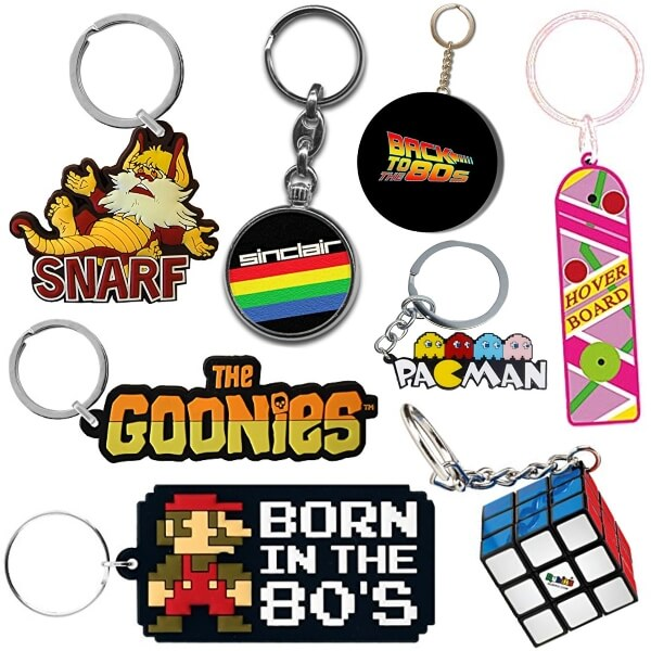 DEC 11 - 80s KEYRINGS. Remind yourself of the greatest decade every time you use your keys!