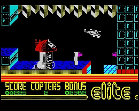 MAY 2 - AIRWOLF VIDEO GAME - a review of the 1984 game by Elite for 8 bit home computers.