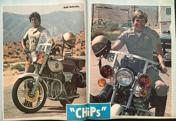 CHiPs poster from Look-in magazine Nov 1980 ft. Erik Estrada and Larry Wilcox