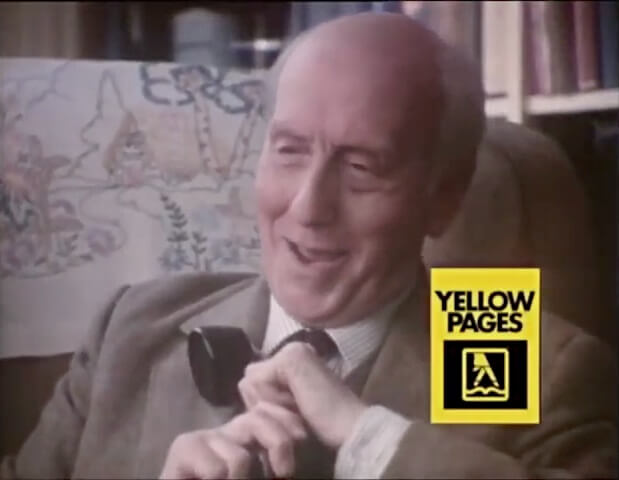 Fly Fishing by J. R. Hartley - 80s Advert for Yellow Pages