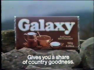 JAN 11 - GALAXY CHOCOLATE bars in the 70s and 80s, with wrapper photos and advert video clip.