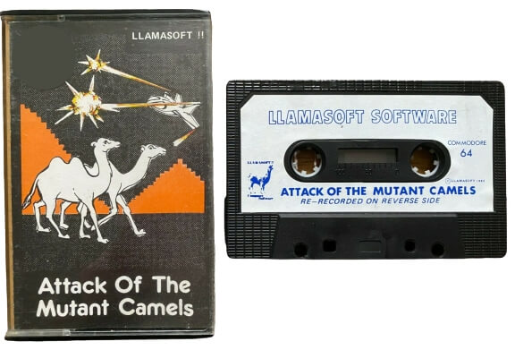 Llamasoft C64 cassette for Attack of the Mutant Camels