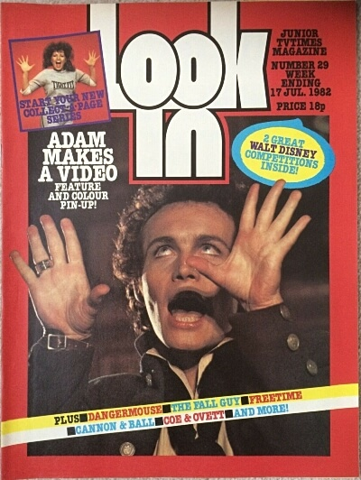 Look-in (17 July 1982) ft. Adam Ant