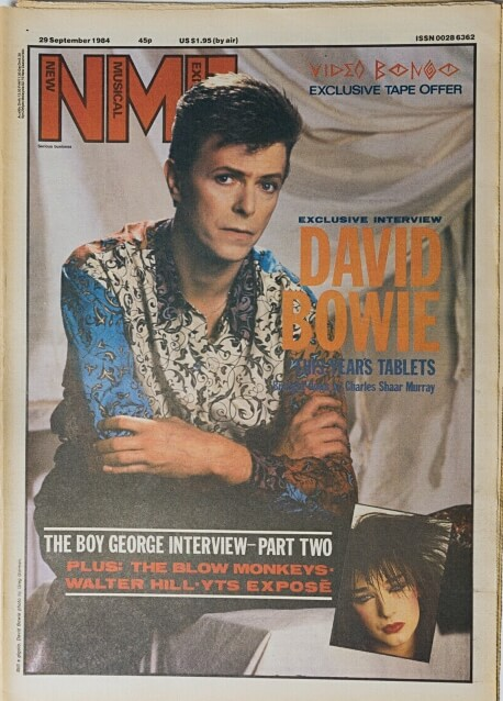 NME 29th September 1984 ft. David Bowie