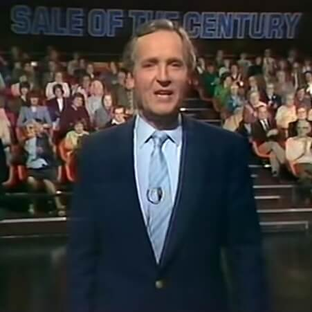 Nicholas Parsons hosting Sale Of The Century in 1983