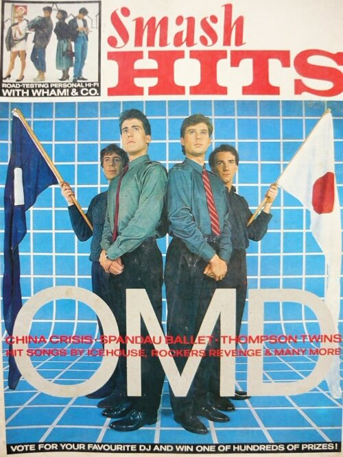 OMD on the cover of Smash Hits 17th Feb 1983