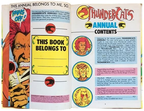 NOV 18 - THUNDERCATS ANNUALS - Every annual from the 80s and 90s. Which one(s) did you read?