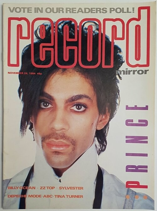 Prince on the cover of Record Mirror 24 Nov 1984
