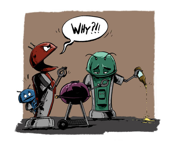 Smash Martians / robots with barbecue. Artwork © copyright Christopher Tupa