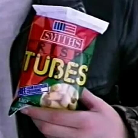 AUG 12 - SMITH'S CRISPY TUBES - a look back at the popular 80s potato snack with TV ads.