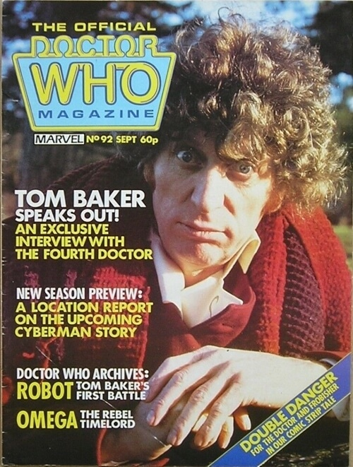 The Official Doctor Who Magazine No.92 from September 1984 featuring fourth Doctor Tom Baker.