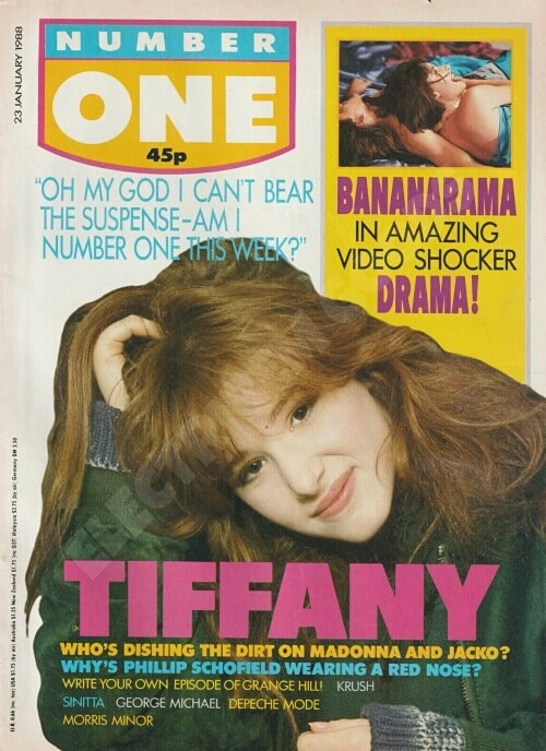 Tiffany on the cover of Number One Magazine 23rd January 1988