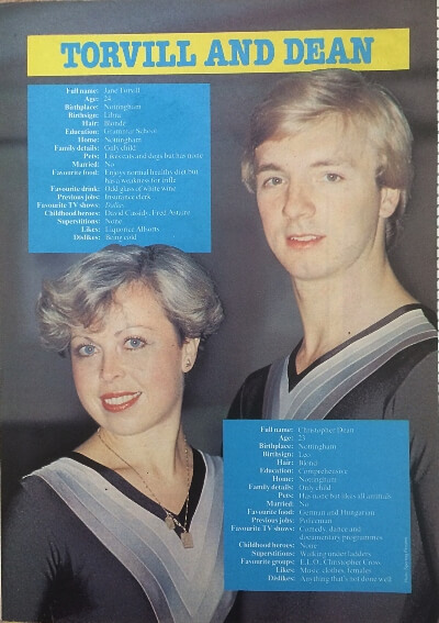 Torvill and Dean Poster from Look-In (20 Feb 1982)