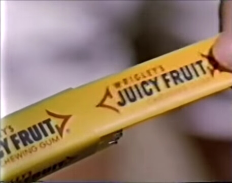 Wrigley's Juicy Fruit advert 1980s