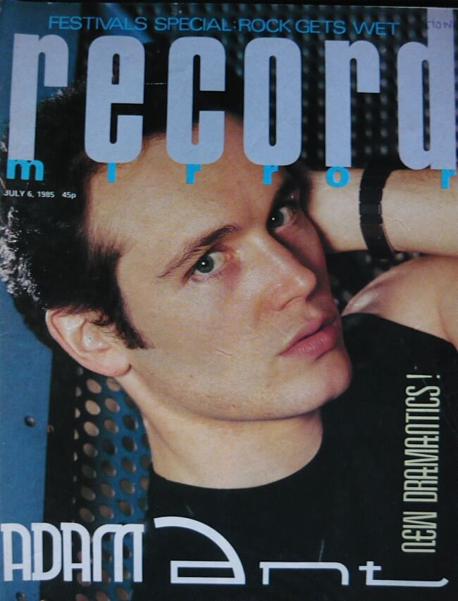 Adam Ant on the cover of Record Mirror July 6th 1985