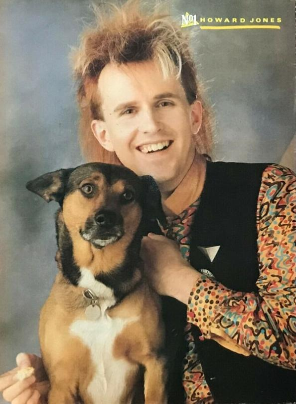 Howard Jones with dog poster (1986) from No1 magazine
