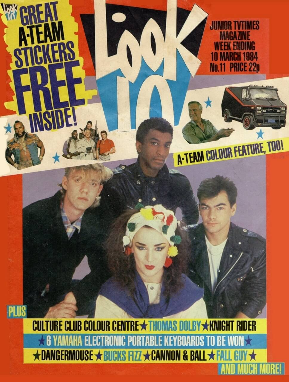 Culture Club on the cover of Look-In magazine 10 March 1984