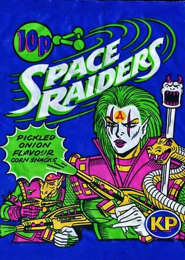 JUL 3 - KP SPACE RAIDERS. The popular snack which launched in 1987 with pickled onion flavour.