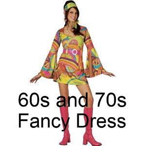 60s Sixties Fancy Dress Costume For Ladies