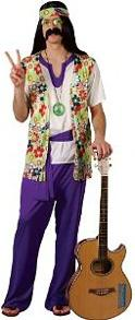 60s Peace Hippie costumes for men