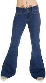 70s Flared Jeans - Bellbottoms - Ladies