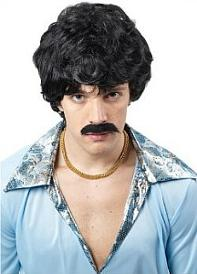 70s Disco Wig and Tash for men