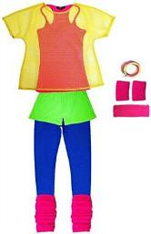 80s Neon Workout Outfit for Women