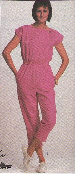 Pink Summer Romper Suit 1986