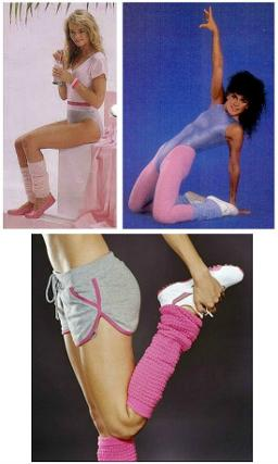80s Leg Warmers Collage