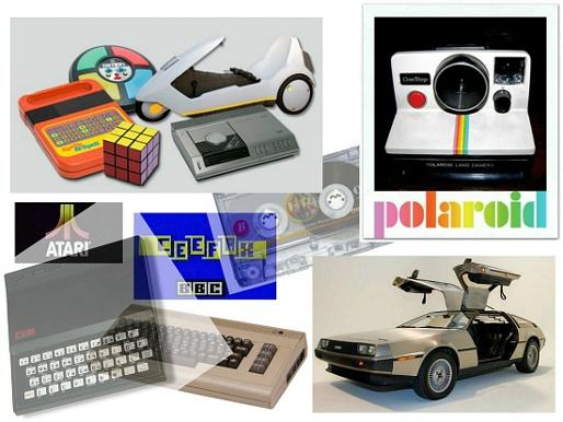 80s Technology Collage
