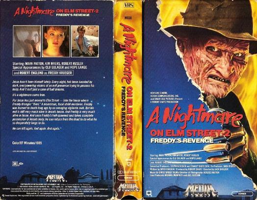 A Nightmare on Elm Street 2 - Freddy's Revenge - VHS sleeve