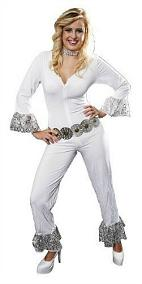ABBA Dancing Queen white jumpsuit costume for women