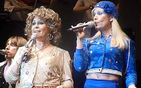 ABBA singing Waterloo in the 70s